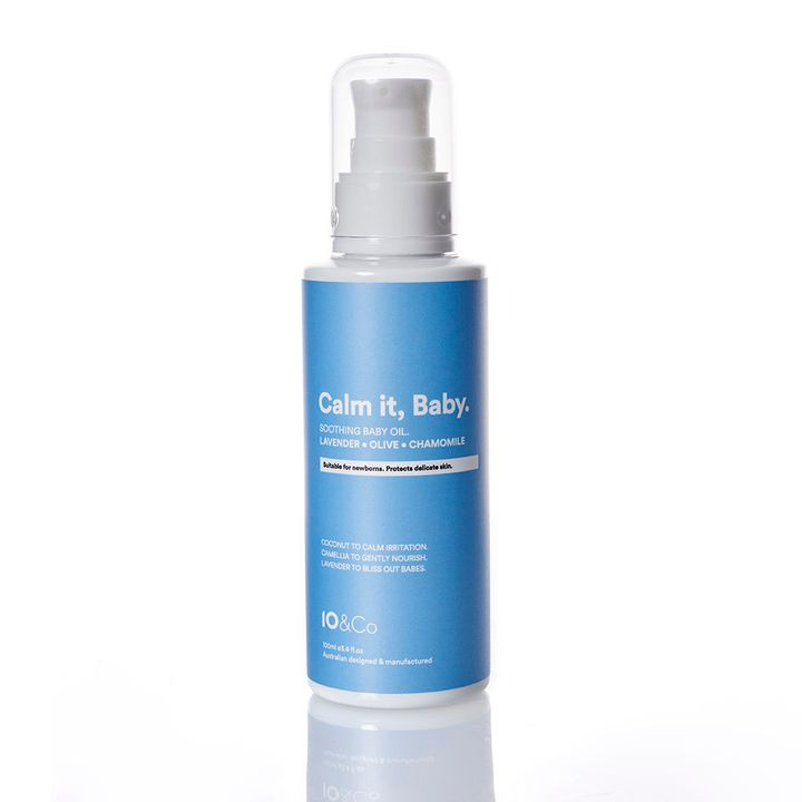 10&Co's Calm It, Baby oil retails for $20.