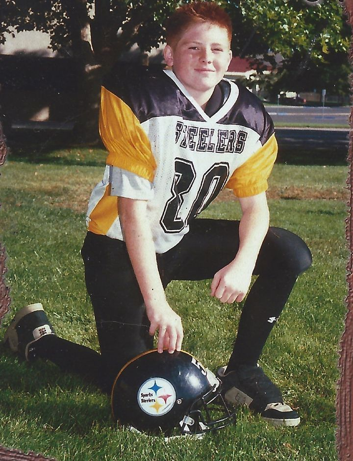 The author's son, Paul, in 2004. He was diagnosed with CTE after he died in a motorcycle accident 10 years aft