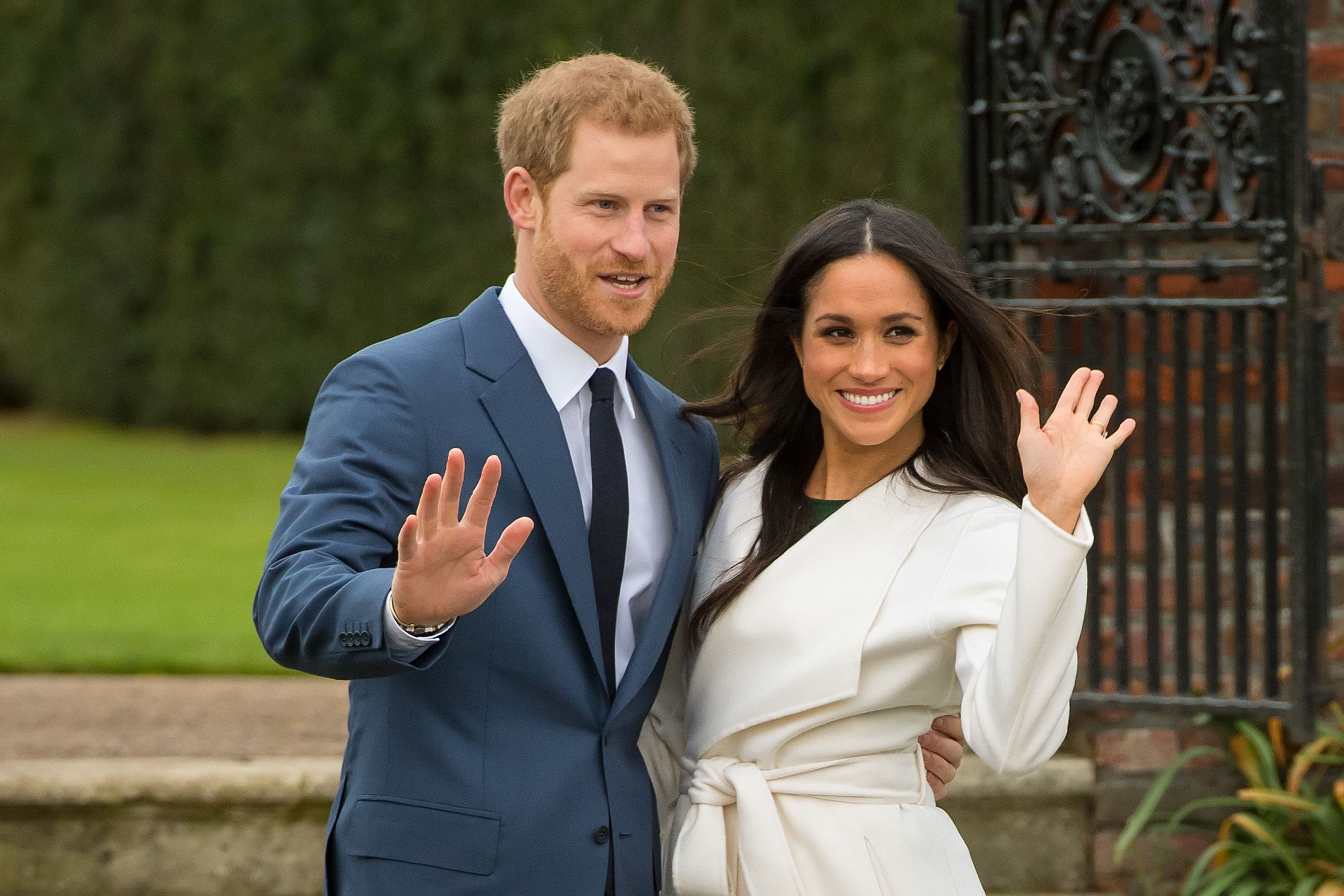 File photo dated 27/11/17 of Prince Harry and Meghan Markle. US president Donald Trump has said he is not aware of any invitation for him to attend their wedding.