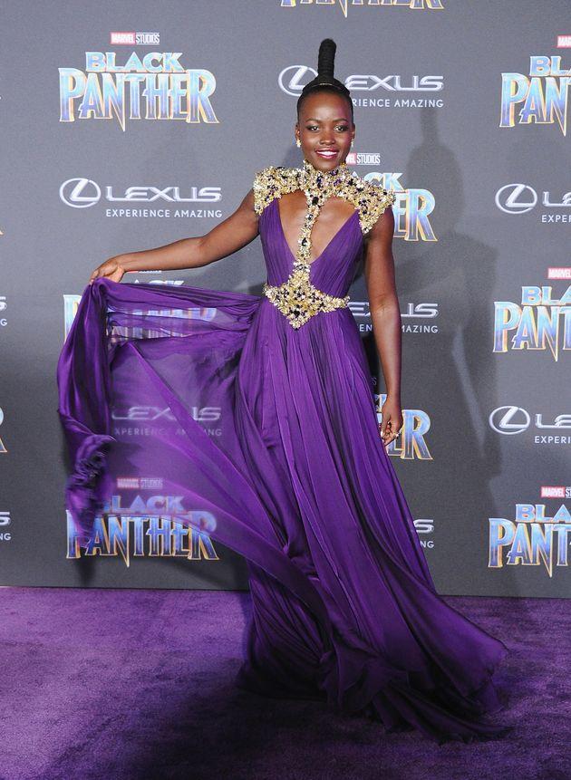 Lupita Nyong'o Led The Celebration Of Bold Colour At The Black Panther