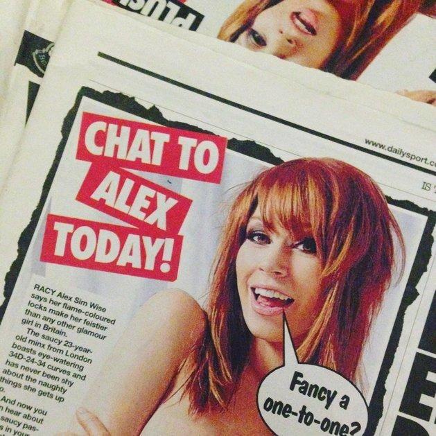 Alex auf dem Cover der britischen Zeitung