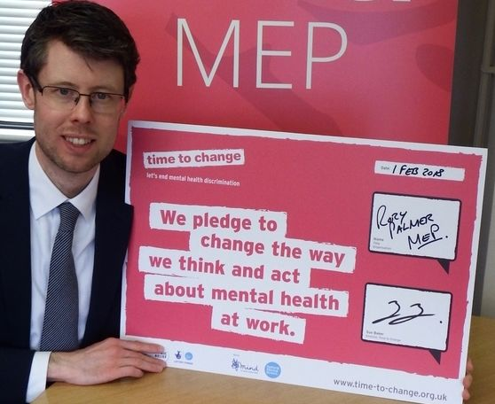 Rory Palmer MEP became the first British MEP or MP to sign the Time to Change Employer