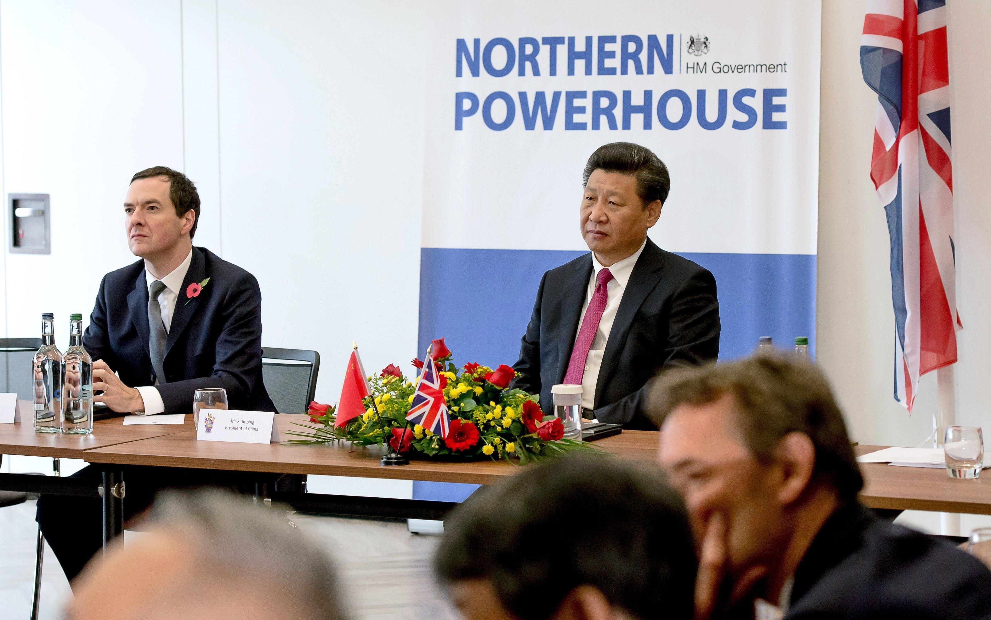 George Osborne and President Xi in 2015