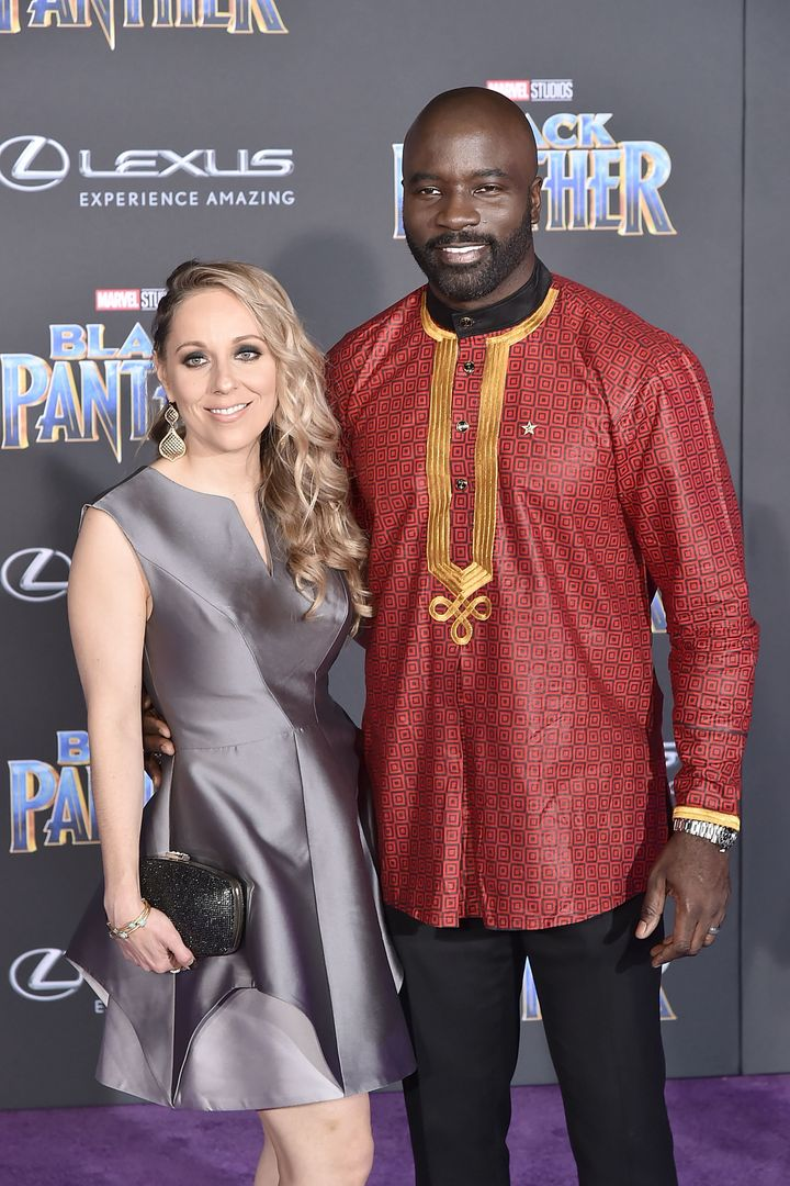 "Iva Colter and Mike Colter attend the premiere of ""Black Panther"" on Jan. 29 in Hollywood."