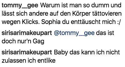 Likes: Thomalla blüht Helene-Liebestattoo