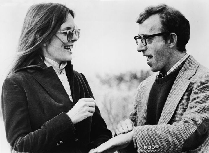 """Diane Keaton and Woody Allen talk in a still from the film """"Annie Hall."""""""
