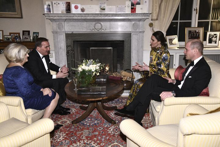 The Duke and Duchess of Cambridge with Sweden's prime minister, Stefan Lofven, and his wife, Ulla Lofven.