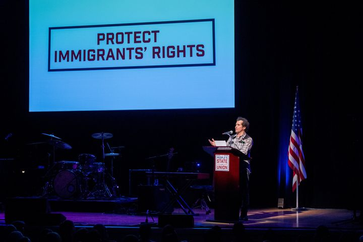 John Leguizamo speaks about immigrant rights at The People's State of the Union.