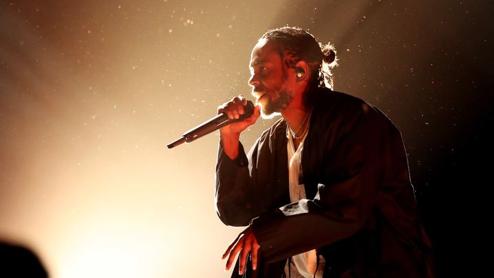 Recording artist Kendrick Lamar performs onstage at the 60th Annual Grammy Awards.