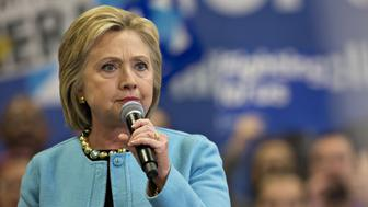 Hillary Clinton, former Secretary of State and 2016 Democratic presidential candidate, pauses while speaking during a campaign event in Manchester, New Hampshire, U.S., on Monday, Feb. 8, 2016. Just a week after turning 2008's loss in the Iowa caucuses into a 2016 win, Clinton could be headed for the opposite fate in New Hampshire, where polls show she now trails Bernie Sanders by double digits. Photographer: Daniel Acker/Bloomberg via Getty Images