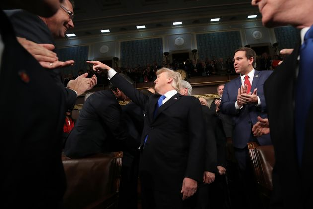 Trump arrives for the State of the Union