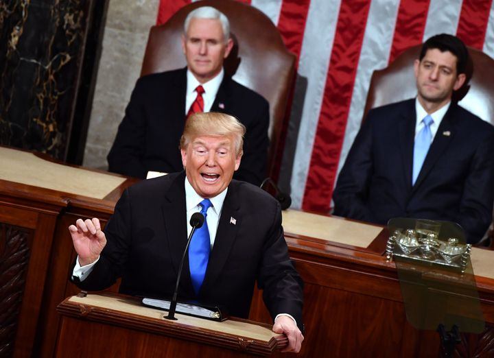 """""""You are powerful witnesses to a menace that threatens our world, and your strength inspires us all,"""" Trump told"""