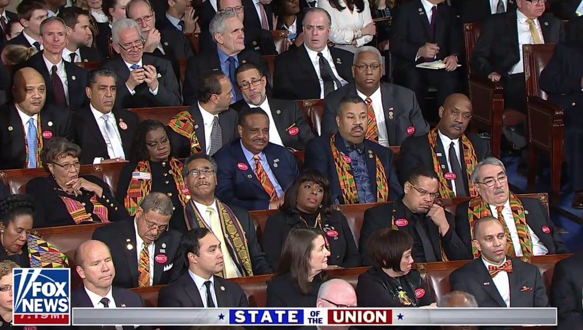 The Congressional Black Caucus Wasn't Having It When Trump Mentioned Black