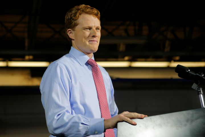 Rep. Joe Kennedy (D-Mass.) delivers the Democratic rebuttal to President Donald Trump's State of the Union address on Tuesday