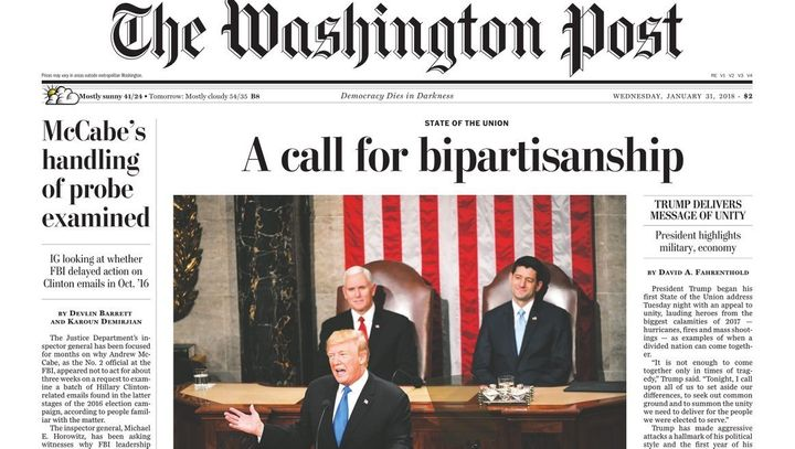 Internet Burns Washington Post Over Its Front Page On