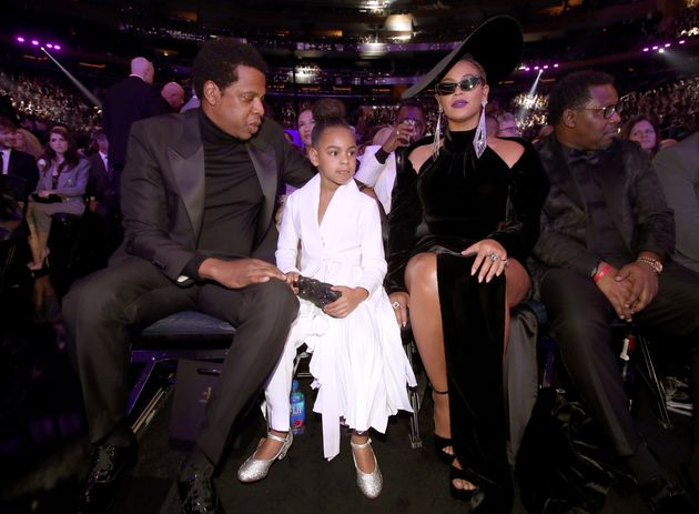 Jay-Z, Blue Ivy and Beyonce hold court at the