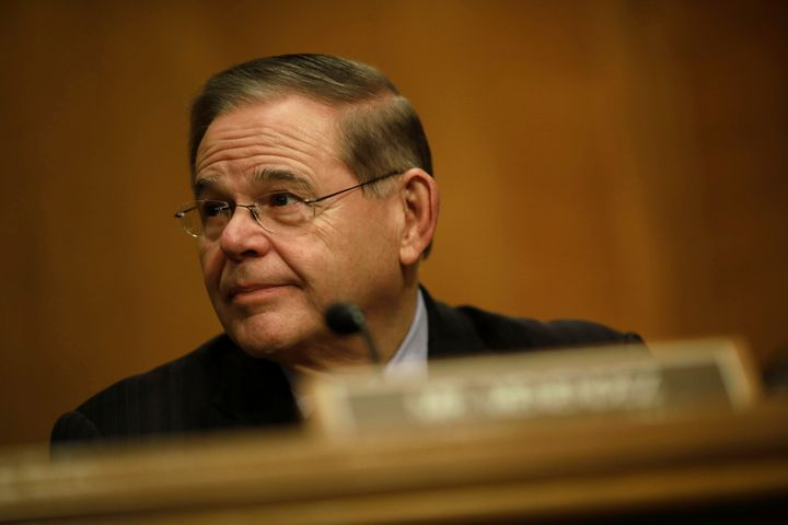 Sen. Bob Menendez (D-N.J.) at a Senate Banking Committee hearing on Capitol Hill on Jan. 23.