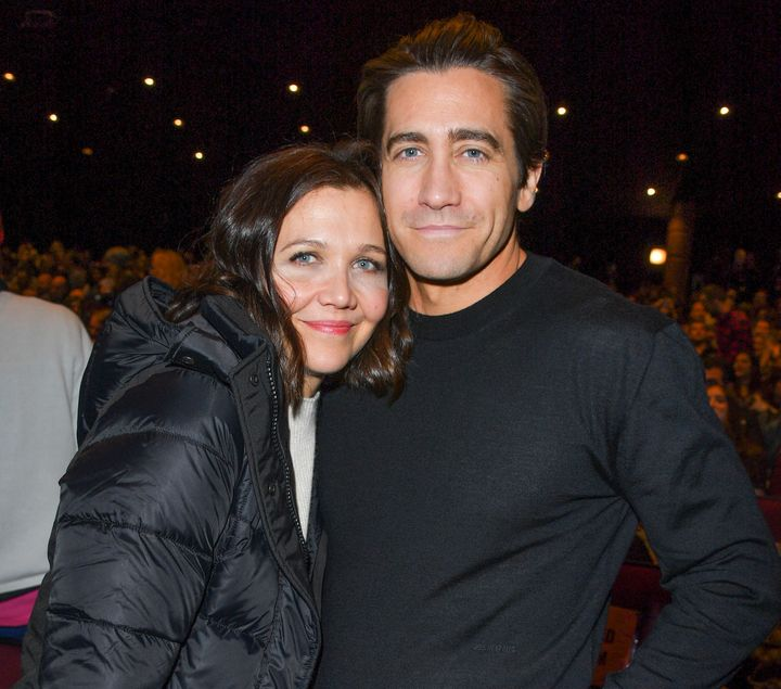 "Maggie Gyllenhaal and brother Jake Gyllenhaal attend the ""Wildlife"" premiere at Sundance on Jan. 20."
