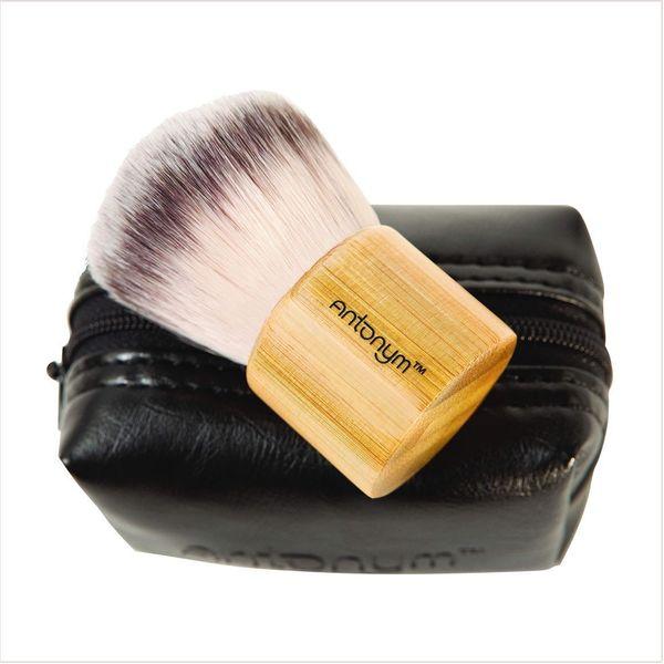 "<a href=""https://www.antonymcosmetics.com/"" target=""_blank"">Antonym</a> makeup brushes are certified vegan."