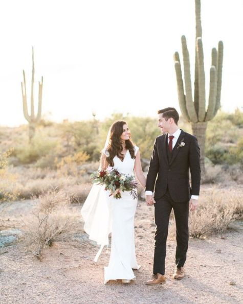 """""""These two co-workers came out from Dallas and turned husband andwife surrounded by the natural beauty of the Arizona d"""