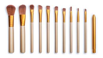 Makeup brush isolate on white background