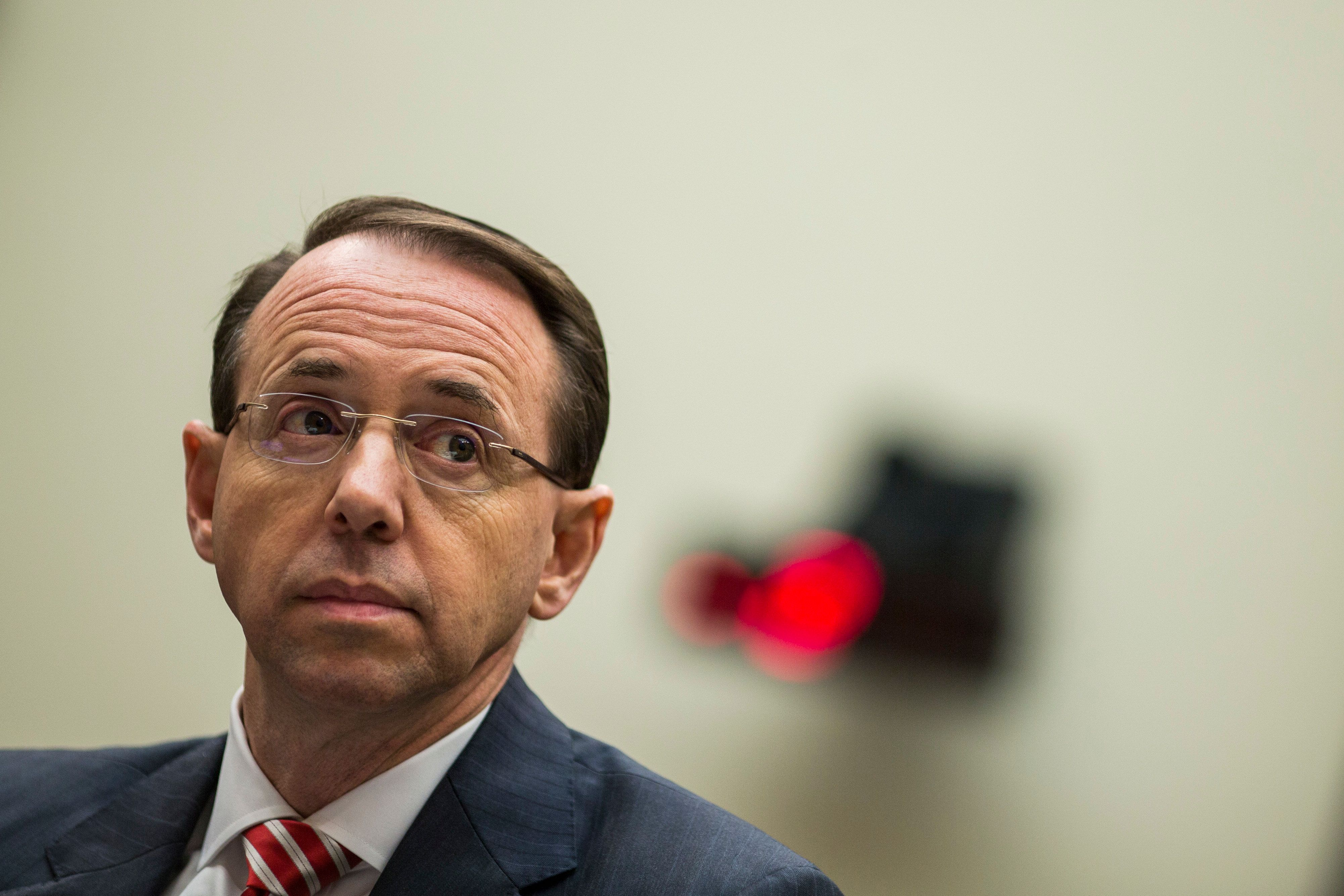Deputy Attorney General Rod Rosenstein was put in charge of the Russia investigation after Attorney General Jeff Sessions rec