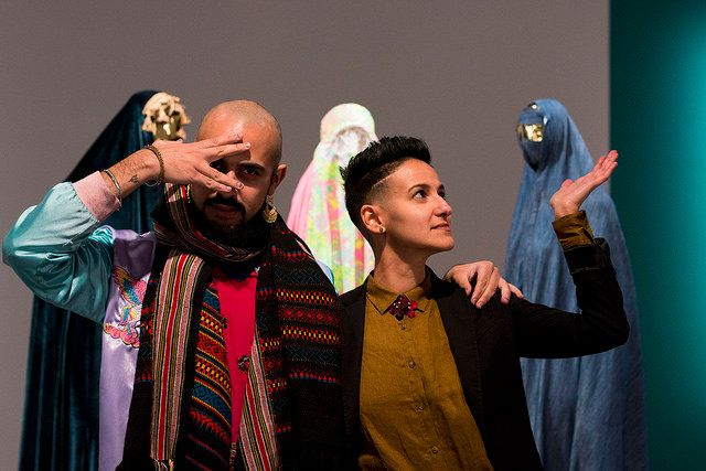 "Zulfikar Ali Bhutto (left) and Yas Ahmed are the co-curators of ""The Third Muslim,"" an art exhibition in California that seek"
