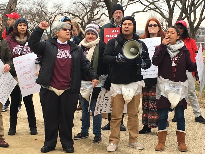 Poultry workers protested outside of the USDA's offices recently to decry the hazardous conditions they say they face in plan