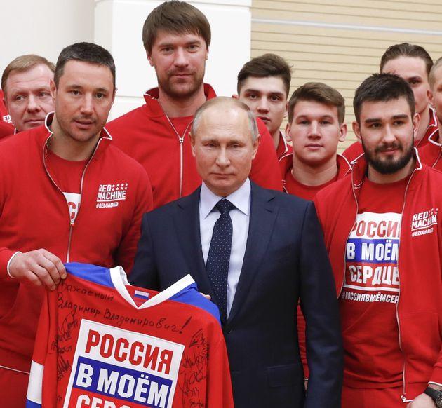 '평창행' 러시아 선수단 만난 푸틴
