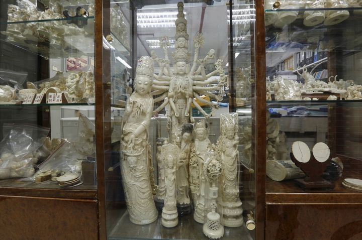 Hong Kong has remained a hub for illegal ivory smuggling, where tradersoften pass off new ivory as antique to take adva
