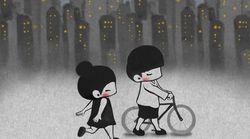 소박하지만 친밀한 사랑을 묘사한 귀여운