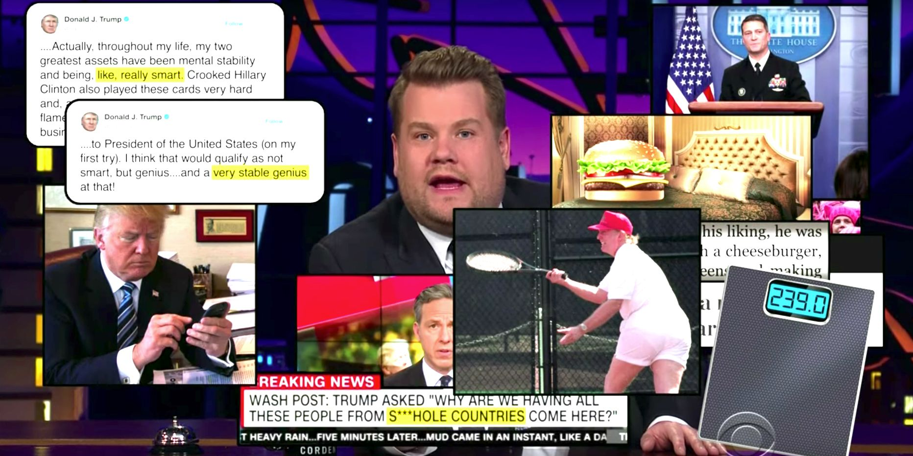 James Corden's Double-Quick Recap Of January 2018 Is Exhausting Just To Watch