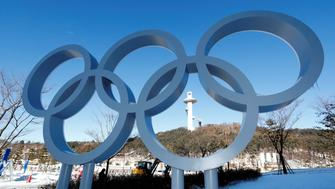 The Olympic rings are pictured at the Alpensia resort for the upcoming 2018 Pyeongchang Winter Olympic Games in Pyeongchang, South Korea, January 23, 2018. REUTERS/Fabrizio Bensch