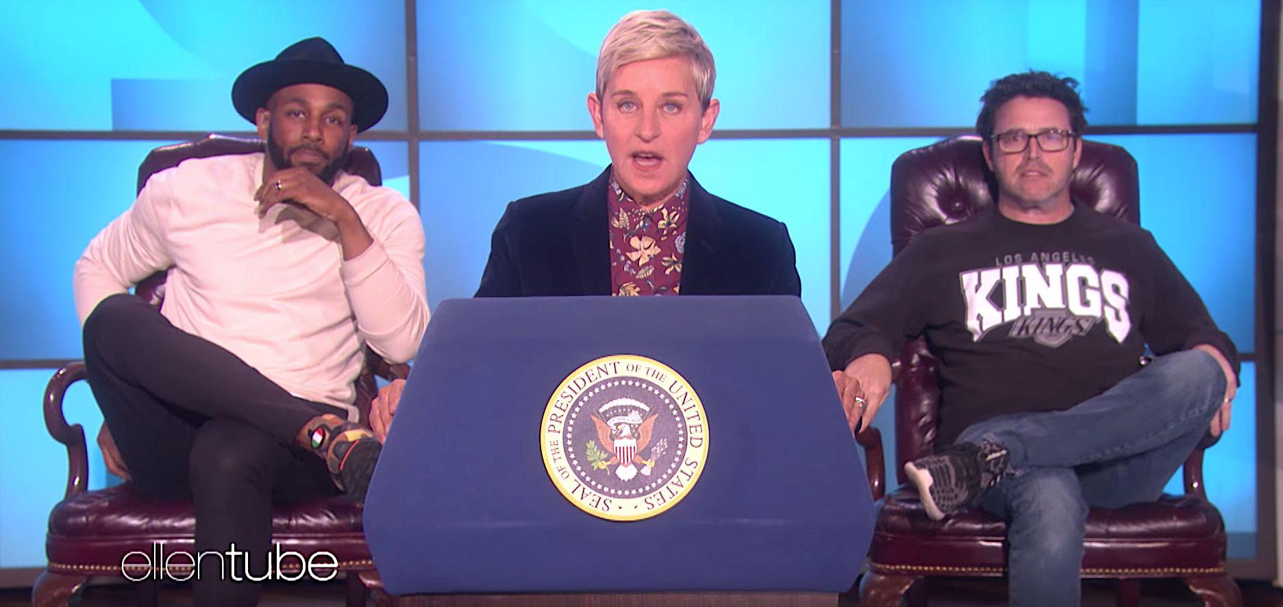 Ellen DeGeneres Trolls Trump With Spoof 'Love' State Of The