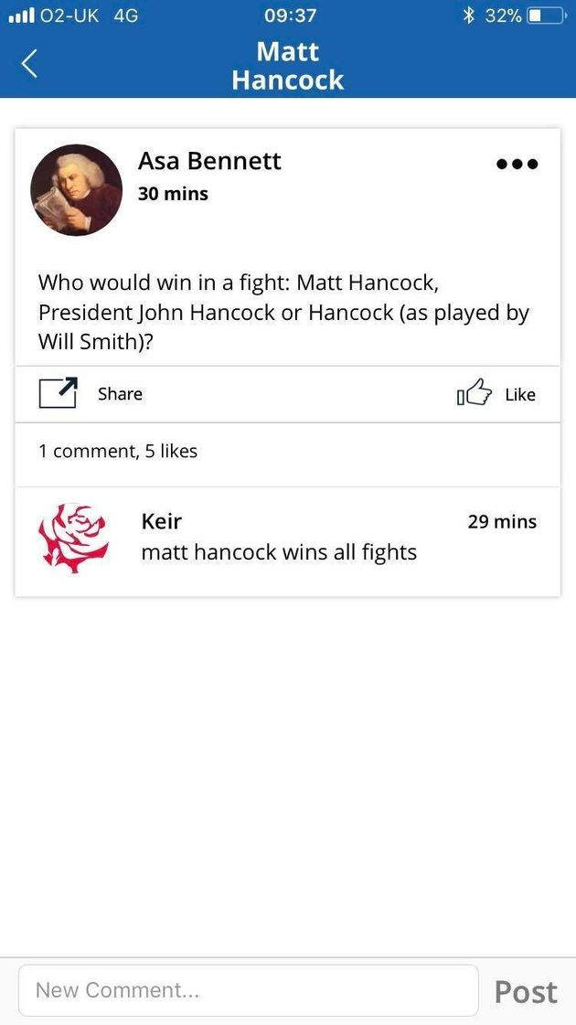 Matt Hancock Has Launched A Brilliant App But It's Backfired