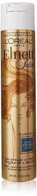 "Get it <a href=""https://www.amazon.com/LOr%C3%A9al-Paris-Elnett-Hairspray-Packaging/dp/B001DJ2USM?tag=thehuffingtop-20"" targe"