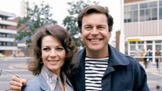 American actor Robert Wagner and his actress wife Natalie Wood at Heathrow Airport in London before leaving to present the prizes at the Cannes Film Festival.   (Photo by PA Images via Getty Images)