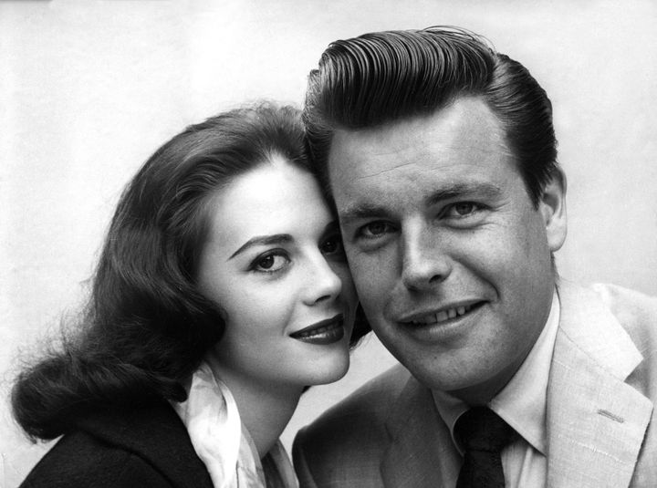 Wood and Wagner in 1958, shortly after their first marriage.