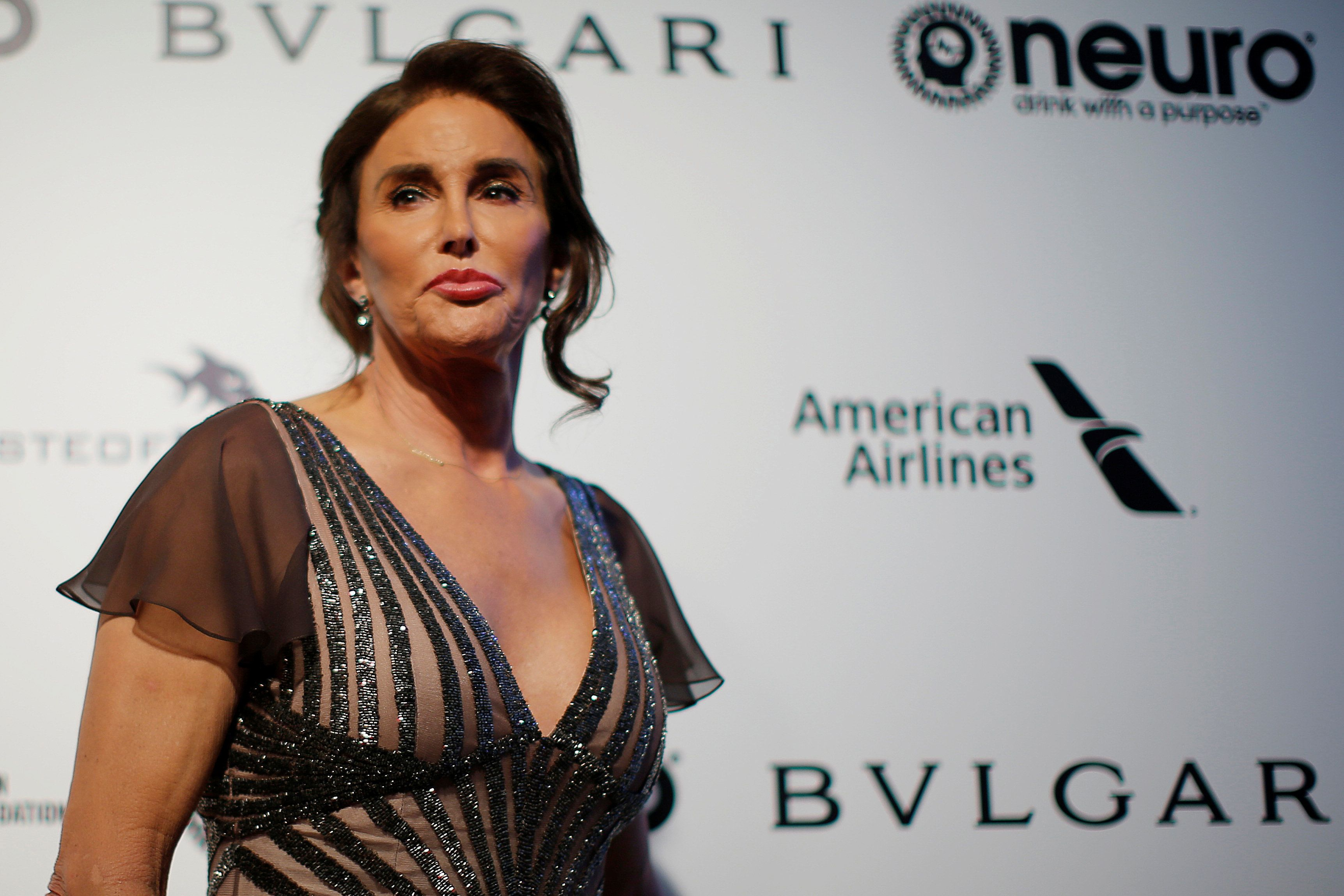 Caitlyn Jenner poses for photographers at the 2017 Elton John AIDS Foundation Academy Awards Viewing Party in Los Angeles, California, U.S., February 26, 2017.   REUTERS/Brian Snyder