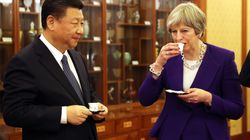 Tea Time As 'Auntie' Theresa May Meets 'Uncle' Xi