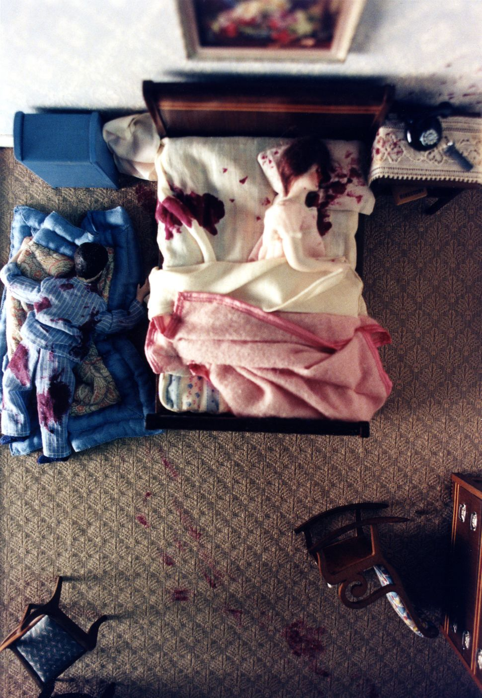 "In ""Three-Room Dwelling"" a wife, husband and baby are all shot to death."