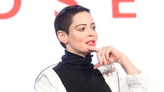 PASADENA, CA - JANUARY 09:  Artist/Activist/Executive producer Rose McGowan of 'Citizen Rose' on E! speaks onstage during the NBCUniversal portion of the 2018 Winter Television Critics Association Press Tour at The Langham Huntington, Pasadena on January 9, 2018 in Pasadena, California.  (Photo by Frederick M. Brown/Getty Images)