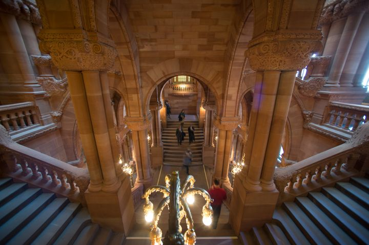 A new sexual harassment policy for the New York state Senate was delivered at the State Capitol on Monday.