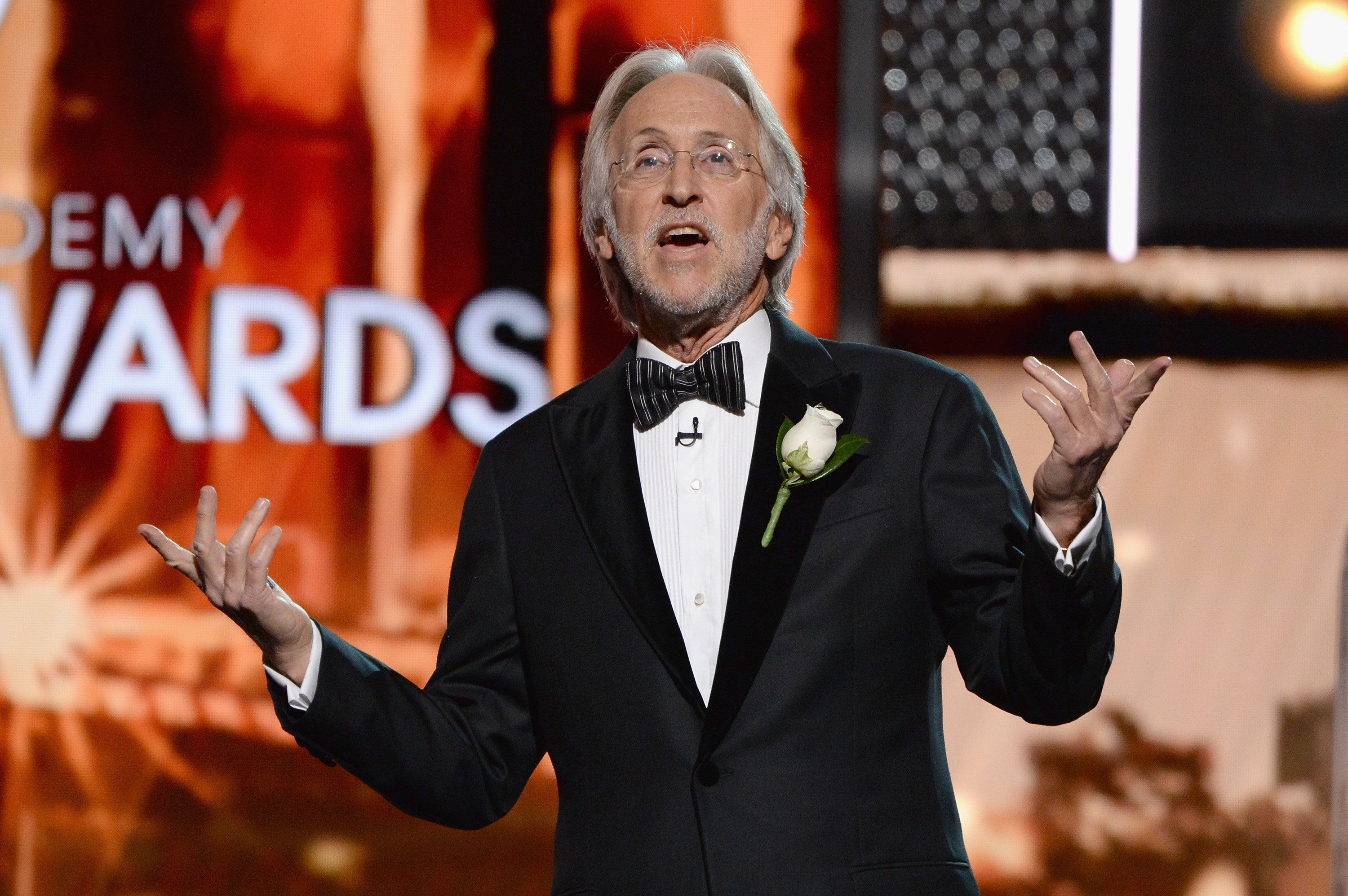 NEW YORK, NY - JANUARY 28:  The Recording Academy and MusiCares President/CEO Neil Portnow speaks onstage during the 60th Annual GRAMMY Awards at Madison Square Garden on January 28, 2018 in New York City.  (Photo by Michael Kovac/Getty Images for NARAS)