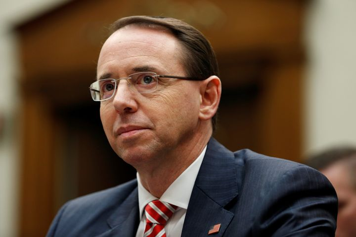 Deputy U.S. Attorney General Rod Rosenstein.