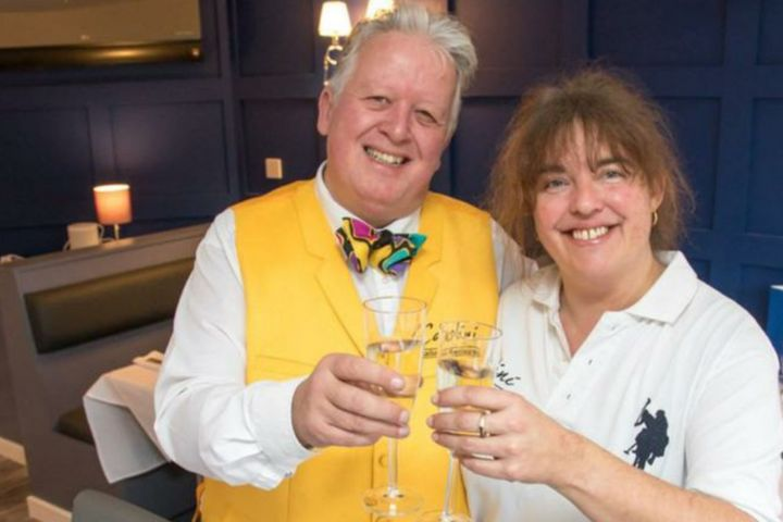 <strong>Former Head Chef Laura Goodman (right) and partner Michael Gale</strong>