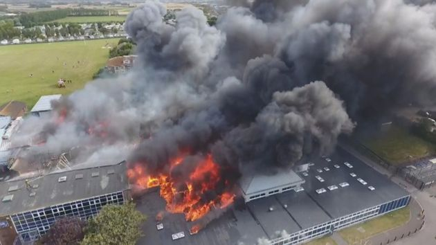 Selsey Academy in West Sussex, burned down in