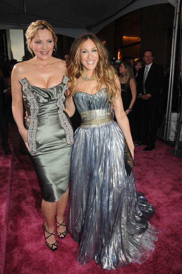 Kim Cattrall and Sarah Jessica
