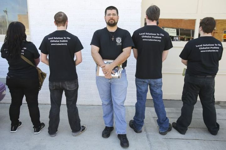 Matthew Heimbach, head of the Traditionalist Worker Party.