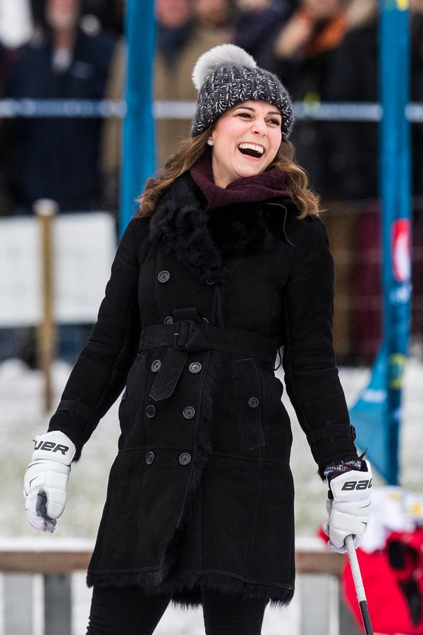 """The duchess wore this Burberry coat, which retails for $988.50 and appears to be sold out at <a href=""""https://www.net-a-porte"""